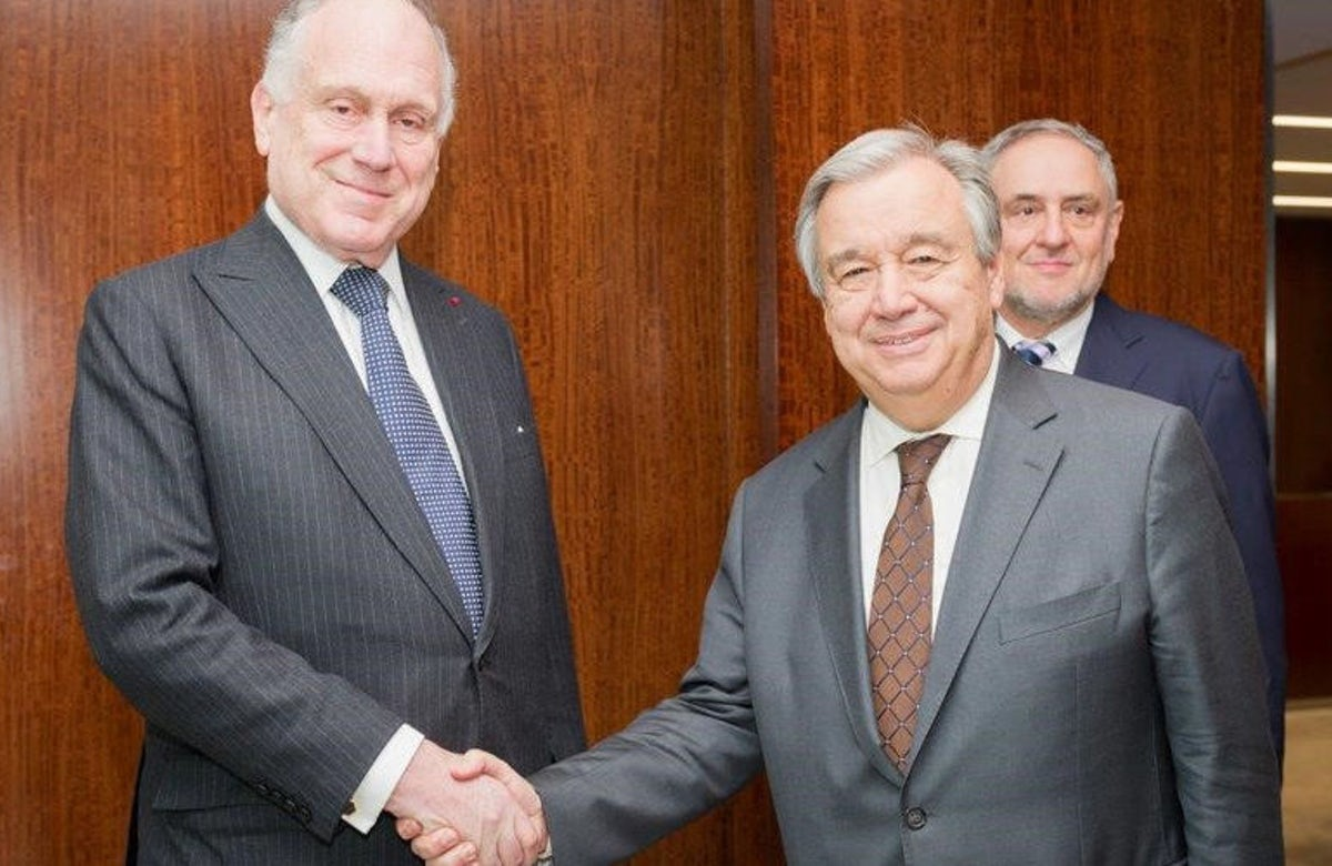 Lauder meets with UN Secretary General Guterres, rejects Palestinian distortion of history
