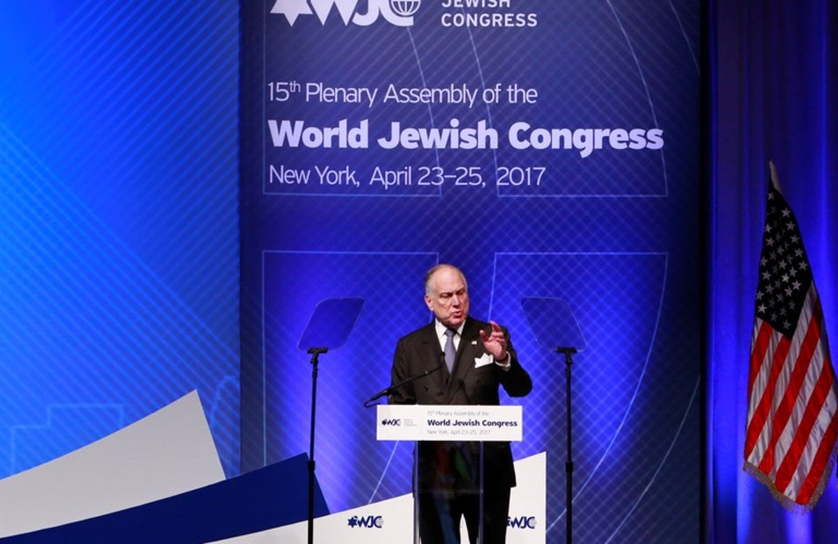 Lauder re-elected as World Jewish Congress president