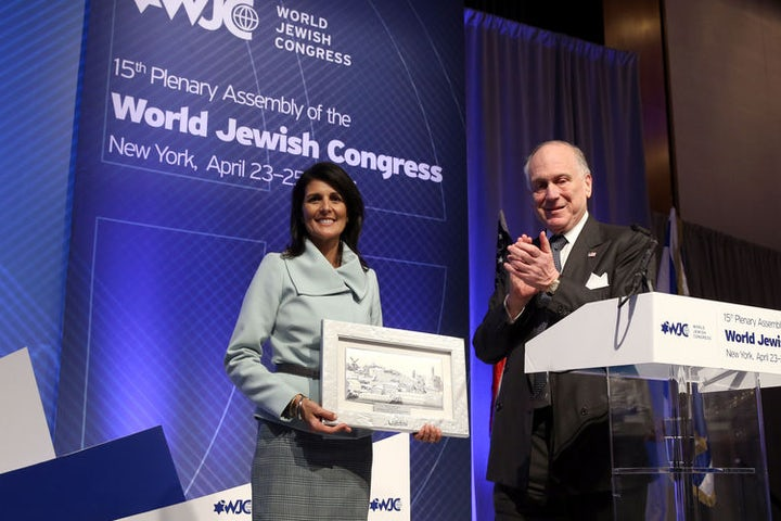 'A new day for Israel at the United Nations', Haley tells WJC plenary