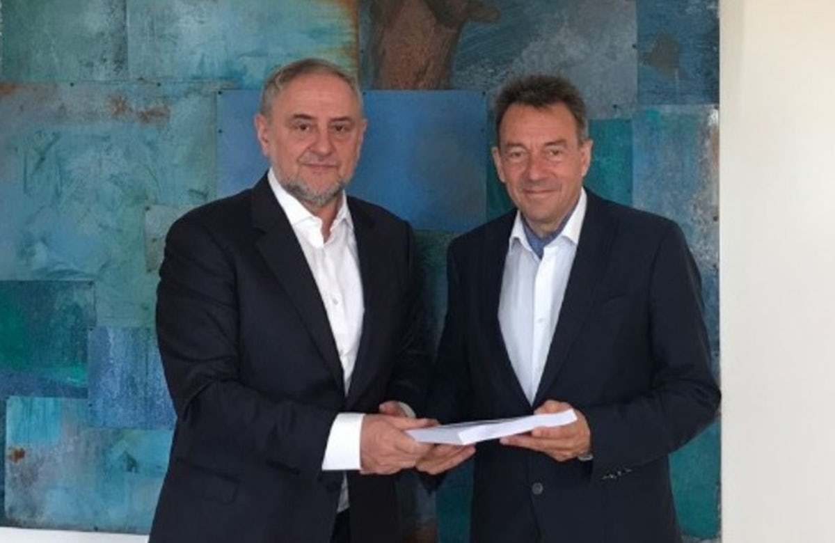 World Jewish Congress CEO delivers petition to ICRC President Maurer, asking for the release of fallen soldiers Oron Shaul and Hadar Goldin
