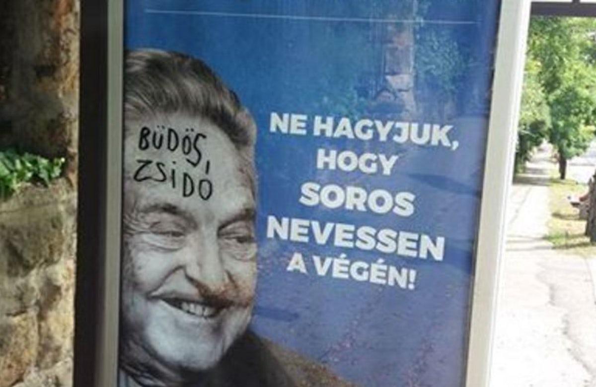 Hungarian Jews urge government to halt anti-Soros campaign due to anti-Semitic undertones