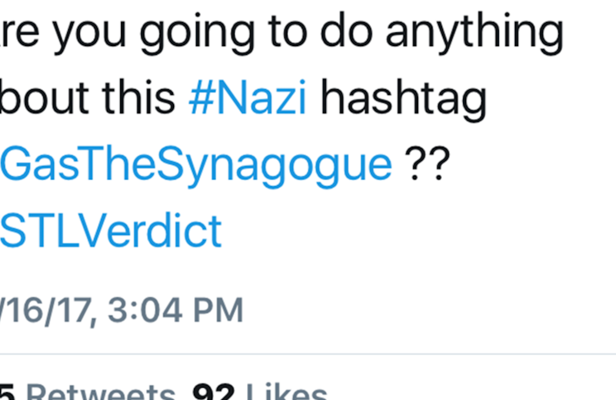 Twitter blacklists #GasTheSynagogue hashtag at WJC's request