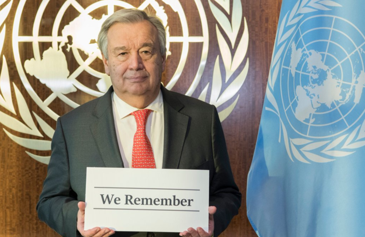 UN Secretary General Antonio Guterres joins World Jewish Congress 'We Remember' campaign