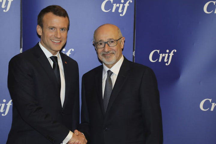At CRIF dinner, France's Macron vows to fight anti-Semitism online and off - Associated Press