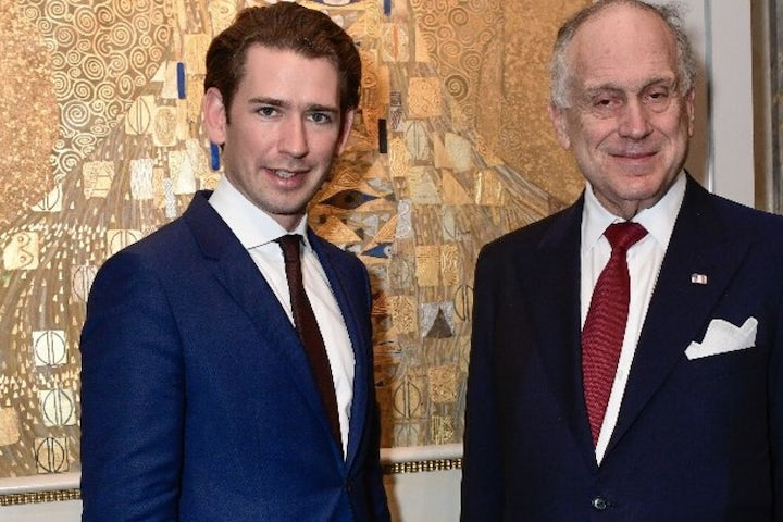 WJC President Lauder thanks Austrian Chancellor Kurz for his commitment in the fight against anti-Semitism