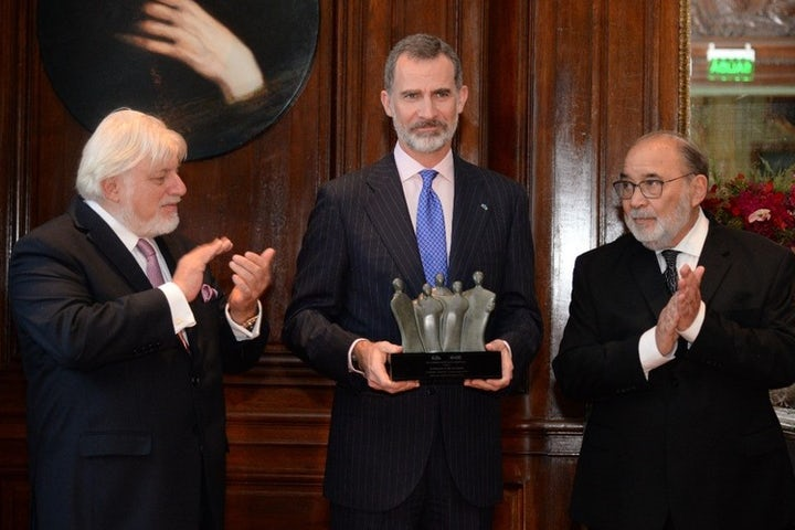 LAJC awards Spanish King with Shalom Prize in recognition of restitution for Sephardic Jews