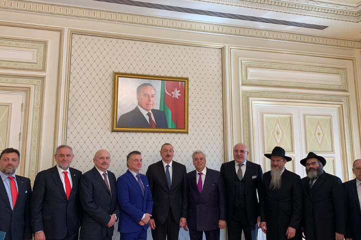 WJC and EAJC leaders meet with Azeri President Ilham Aliyev