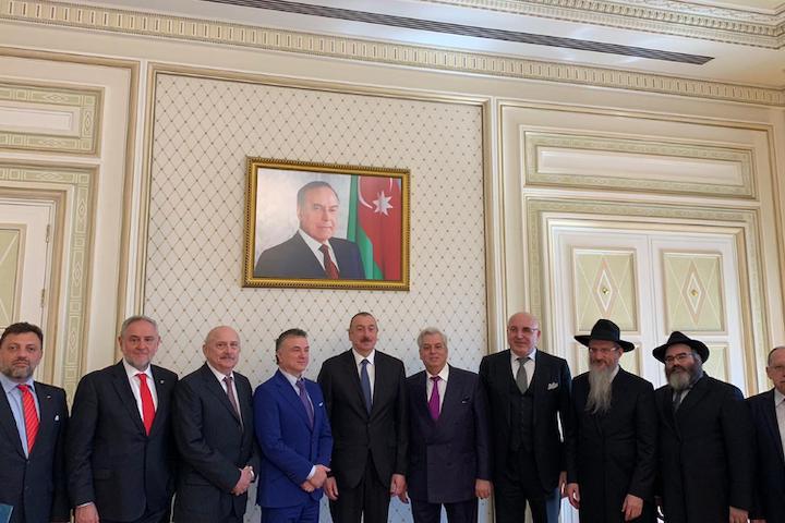 WJC-EAJC Delegation Meets Azeri President