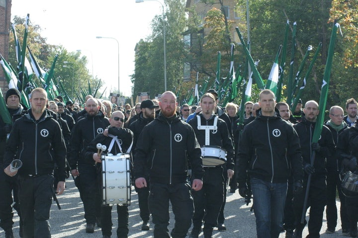 Neo-Nazi movement marches in Sweden on Yom Hashoah