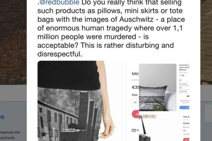 After backlash, Redbubble online market place pulls clothing imprinted with Auschwitz images