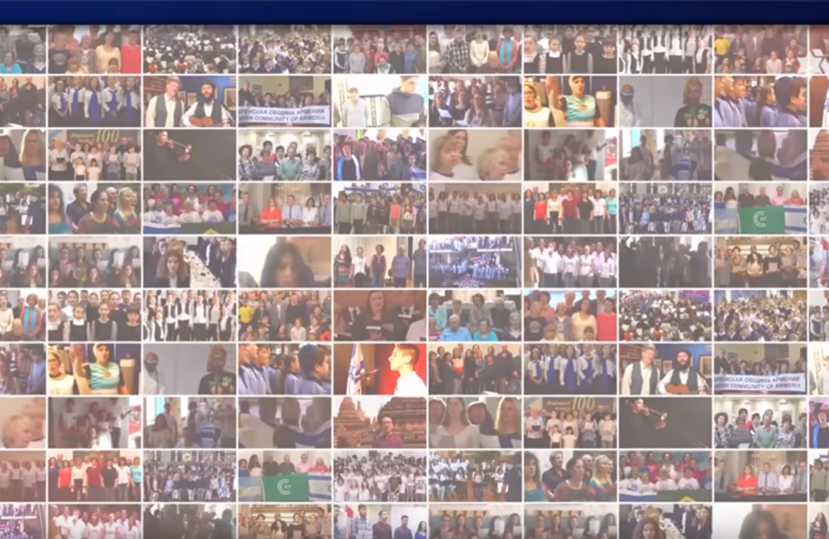 WATCH: Thousands of people around the world sing Hatikvah in celebration of Israel