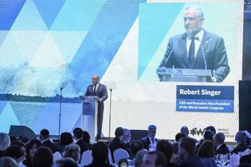 WJC CEO Robert Singer address 75th anniversary commemoration of Warsaw Ghetto Uprising