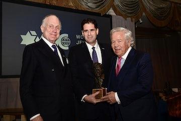 Israeli Ambassador to Washington Ron Dermer addresses the WJC's Theodor Herzl Award Dinner