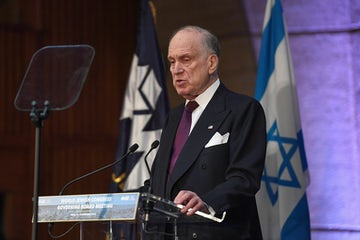 WJC President Ronald S. Lauder addresses 2018 Governing Board meeting in Paris